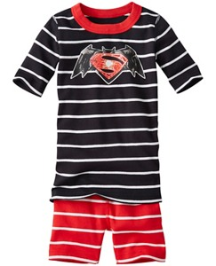 DC Comics™ Batman v Superman Short John Pajamas In Organic Cotton by Hanna Andersson