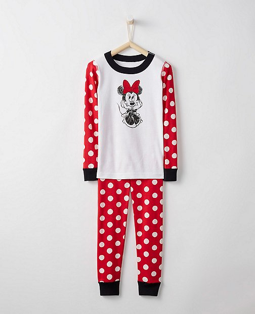 Disney Minnie Mouse Long John Pajamas In Organic Cotton by Hanna Andersson
