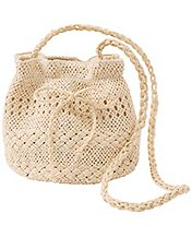 Straw Bucket Purse by Hanna Andersson