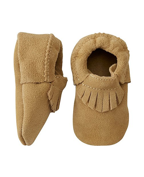 Leather Fringe Moccasins by Hanna Andersson