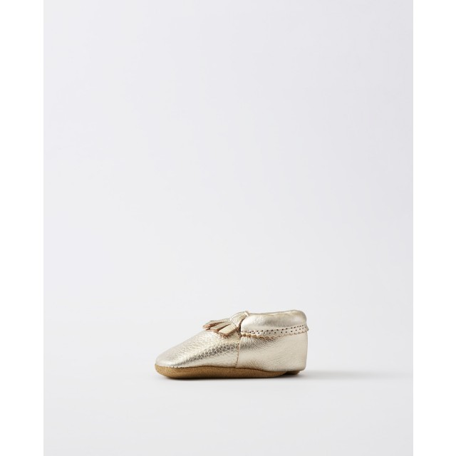 Baby Leather Fringe Moccasins By Hanna