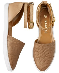 Ankle Strap Flats by Kaanas