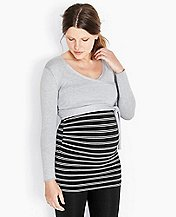 Maternity Silk-Touched Wrap Sweater by Hanna Andersson