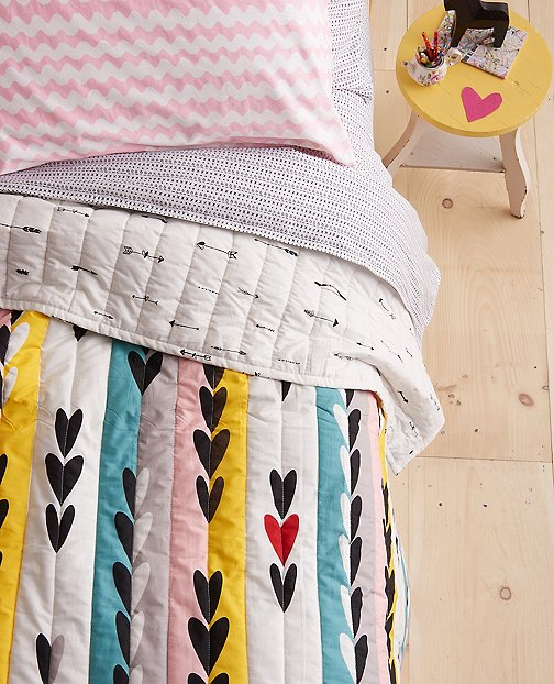 Reversible Follow Your Heart Quilt by Hanna Andersson