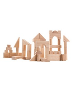 50 Piece Wooden Block Set By Plan Toys