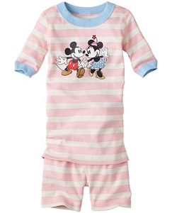 Disney Mickey Mouse Short John Pajamas In Organic Cotton by Hanna Andersson