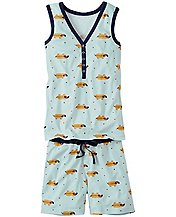 Henley Tank John Pajamas in Organic Cotton by Hanna Andersson
