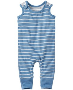 Stripe Happy Overalls In Organic Cotton by Hanna Andersson