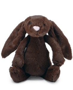 Small Bashful Chocolate Bunny By Jellycat