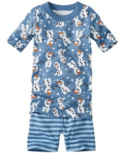 Disney Frozen Short John Pajamas In Organic Cotton by Hanna Andersson