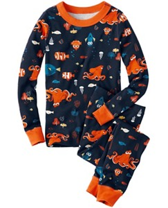 Disney•Pixar Finding Dory Long John Pajamas In Organic Cotton by Hanna Andersson