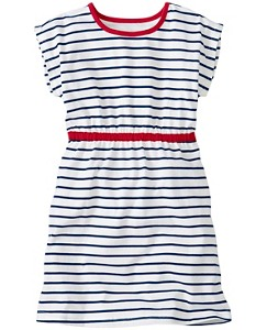 Stripey Dress With Heart Cutout by Hanna Andersson