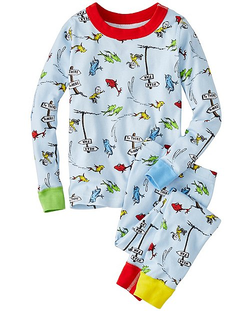 Kids Dr. Seuss Long John Pajamas In Organic Cotton by Hanna Andersson