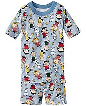 Kids Peanuts Short John Pajamas In Organic Cotton by Hanna Andersson