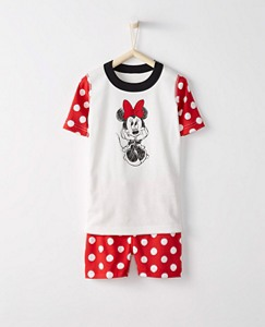 Kids Disney Minnie Mouse Short John Pajamas In Organic Cotton by Hanna Andersson
