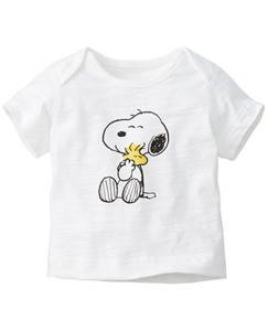 Peanuts Lap Shoulder Art Tee In Slub Jersey by Hanna Andersson