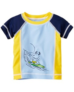Peanuts Sun-Ready Rash Guard Tee by Hanna Andersson