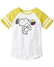 Peanuts Colorblock Art Tee In Slub Jersey by Hanna Andersson