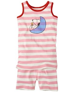Peanuts Tank John Pajamas In Organic Cotton by Hanna Andersson