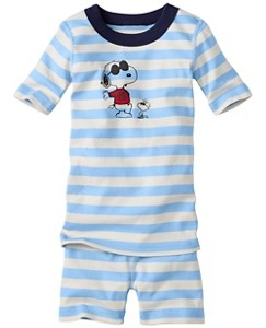 Peanuts Short John Pajamas In Organic Cotton by Hanna Andersson