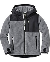 Boys Chill Check Fleece Jacket by Hanna Andersson
