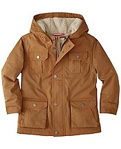 Boys Sherpa Lined Utility Jacket  by Hanna Andersson