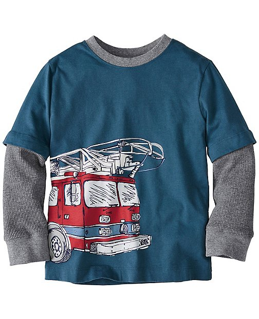 Boys Wraparound Art Tee In Supersoft Jersey by Hanna Andersson