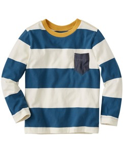 Bold Stripe Tee In Supersoft Jersey by Hanna Andersson