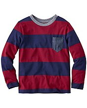 Boys Bold Stripe Tee In Supersoft Jersey by Hanna Andersson