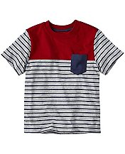 Boys Colorblock Tee In Supersoft Jersey by Hanna Andersson