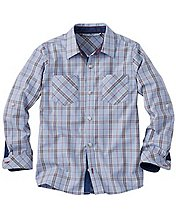 Boys Summerhouse Plaid Shirt by Hanna Andersson