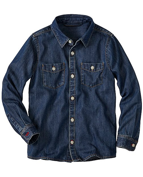 Boys Chill Out Chambray Shirt by Hanna Andersson