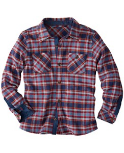Boys Plaid Hipster Shirt In Cotton Flannel by Hanna Andersson
