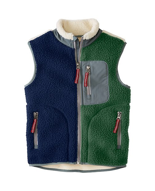 Boys Headed Out Sherpa Vest by Hanna Andersson