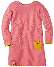 Girls Knit Mix Sweater Dress by Hanna Andersson