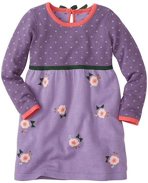 Girls Blossom Sweater Dress by Hanna Andersson