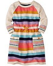 Girls Stripe Cozy Sweater Dress by Hanna Andersson