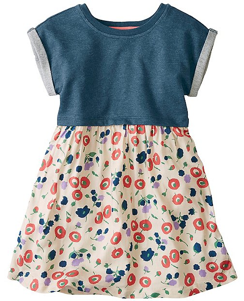 Girls Double Comfy Dress In Terry & Challis  by Hanna Andersson