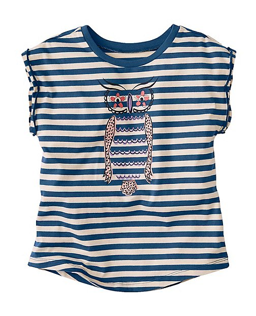 Girls Cap Sleeve Art Tee by Hanna Andersson