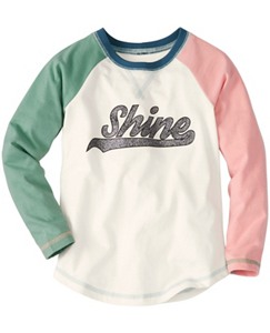 Colorblock Baseball Tee In Supersoft Jersey by Hanna Andersson