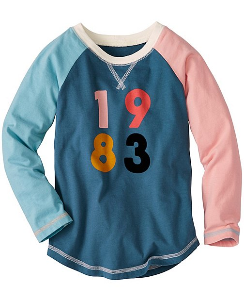 Girls Colorblock Baseball Tee In Supersoft Jersey by Hanna Andersson