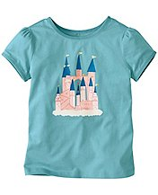 Girls Shimmer Trim Art Tee by Hanna Andersson