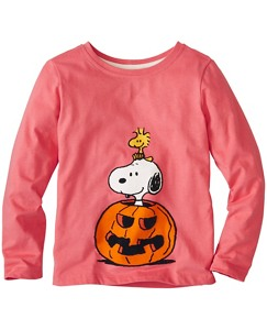 Girls Peanuts Tee In Supersoft Jersey by Hanna Andersson
