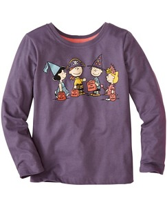 Girls Peanuts Glow In The Dark Tee In Supersoft Jersey by Hanna Andersson