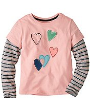 Girls Double Dare Tee In Supersoft Jersey by Hanna Andersson