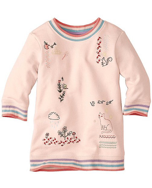 Girls Embroidered Sketchbook Sweatshirt by Hanna Andersson