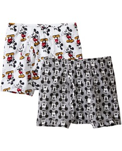 Kids Disney Mickey Mouse Boxer Briefs 2 Pack In Organic Cotton by Hanna Andersson