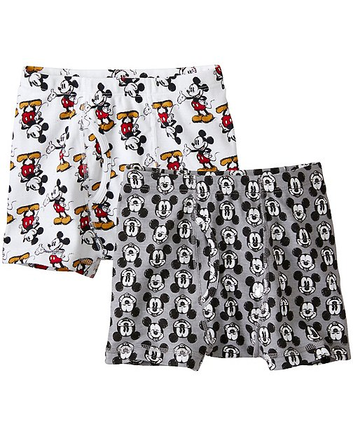 Disney Mickey Mouse Boys Boxer Briefs 2 Pack In Organic Cotton by Hanna Andersson