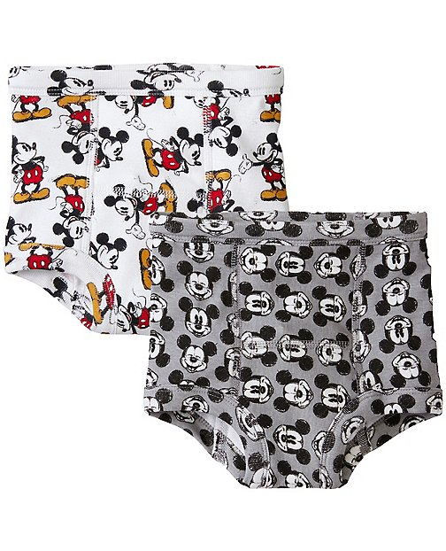 Disney Mickey Mouse Boys Training Unders 2 Pack In Organic Cotton by Hanna Andersson