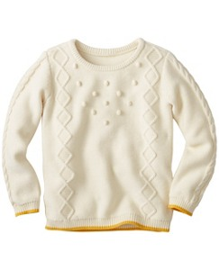 Girls Cotton & Wool Popcorn Pullover by Hanna Andersson